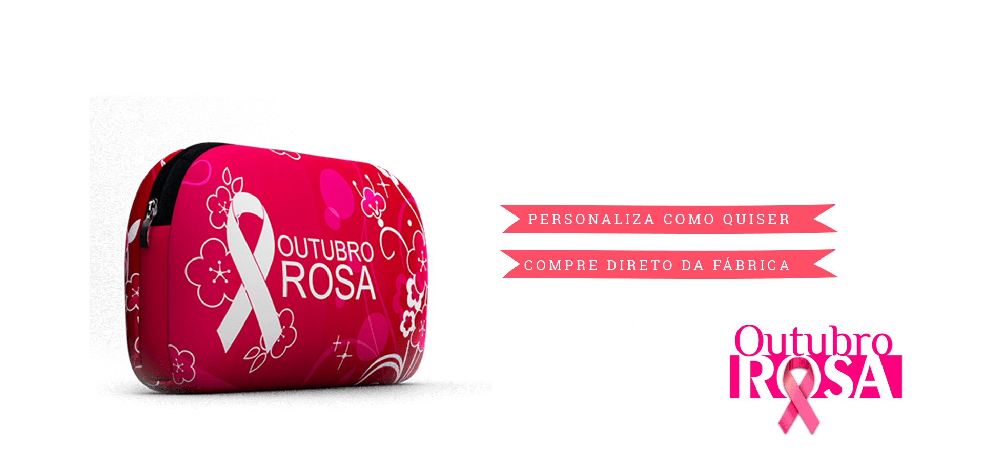 Brindes em neoprene mais vendidos para outubro rosa