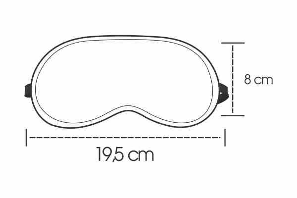 Medidas Máscara de Dormir Personalizada