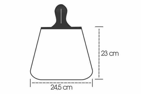 Medidas Lixeira para Carro em Isoflex Personalizada
