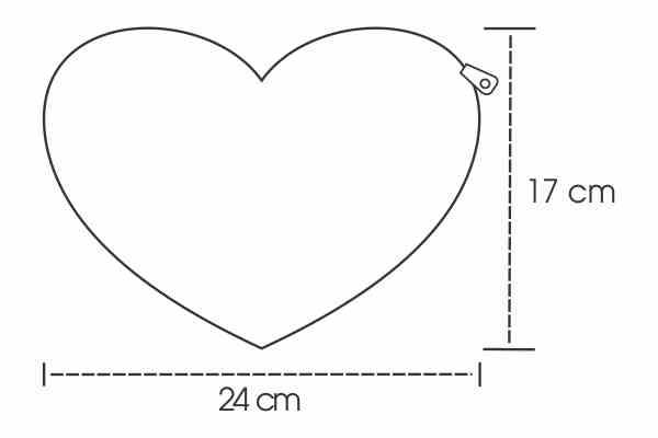 Medidas Necessaire Coração Personalizada