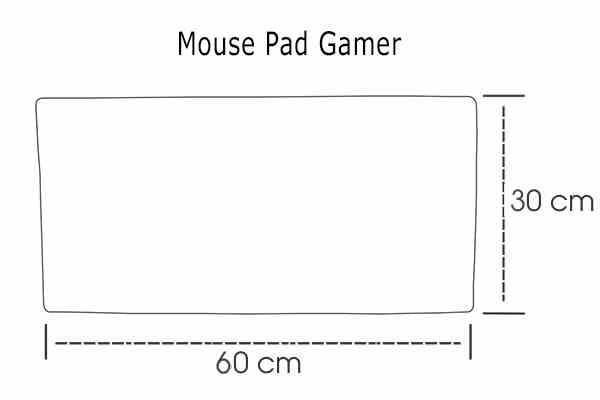 Medidas Mouse Pad Gamer Personalizado