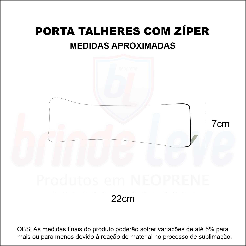 Medidas Porta Talher com Zíper Personalizado