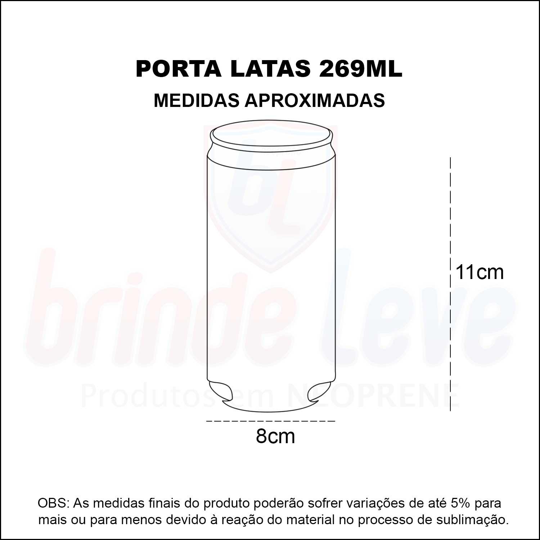 Medidas Porta Latas de 269ml Personalizado
