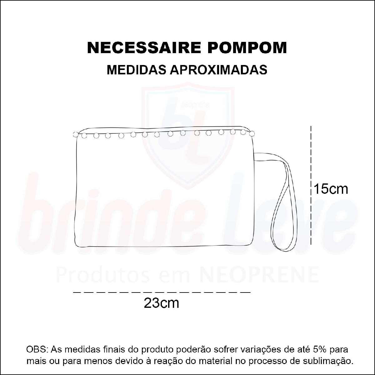 Medidas Necessaire Pompom Personalizada