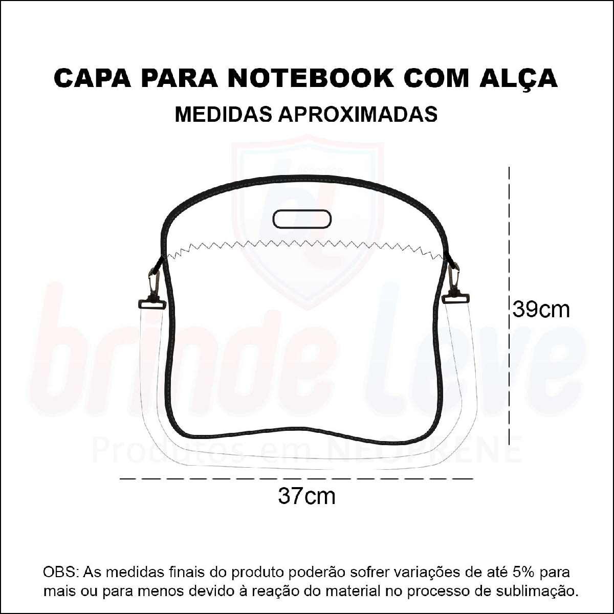 Medidas Capa para Notebook com Alça Personalizada