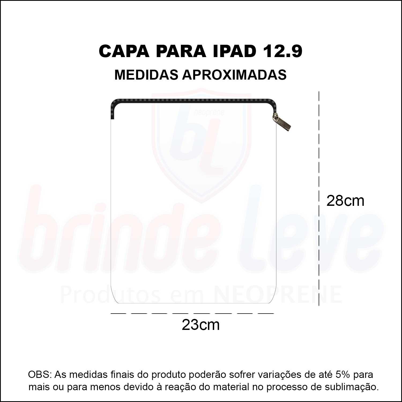 Medidas Capa para iPad 12.9 Personalizada
