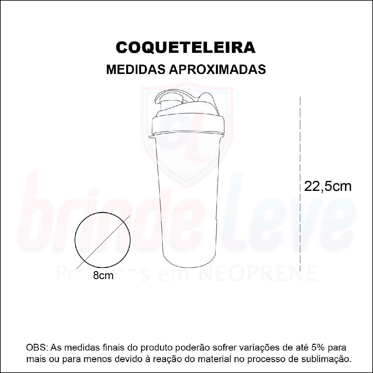 Medidas Coqueteleira Personalizada