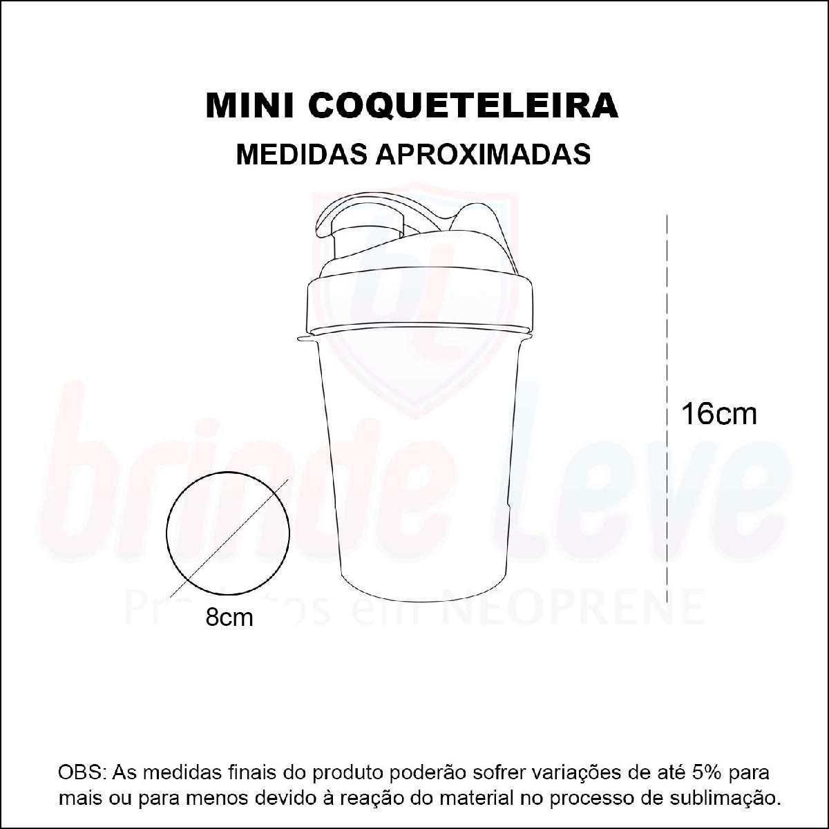 Medidas Mini Coqueteleira Personalizada