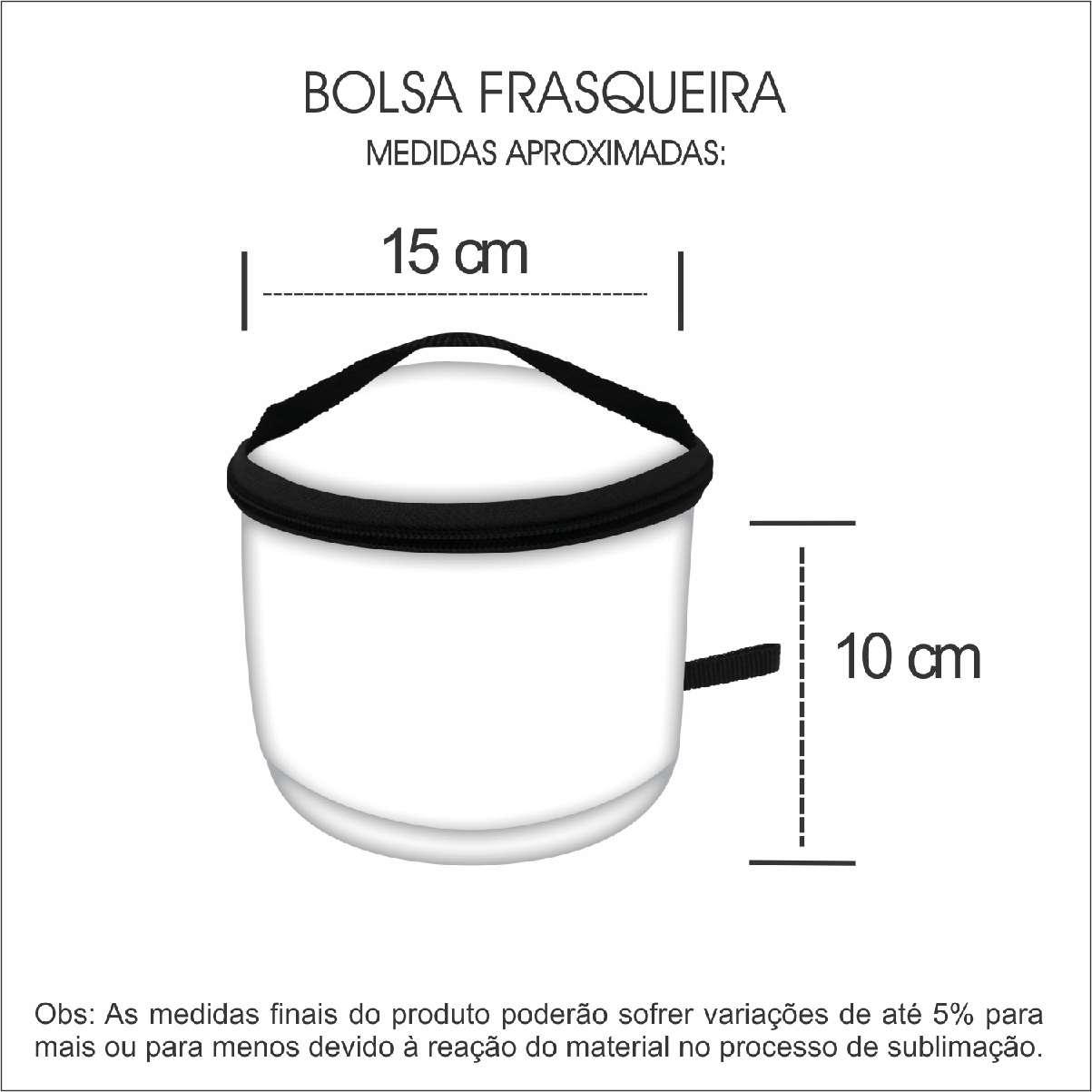 Medidas Bolsa Frasqueira Personalizada