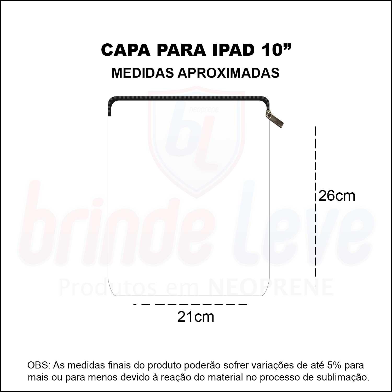 Medidas Capa para iPad 10 Personalizada