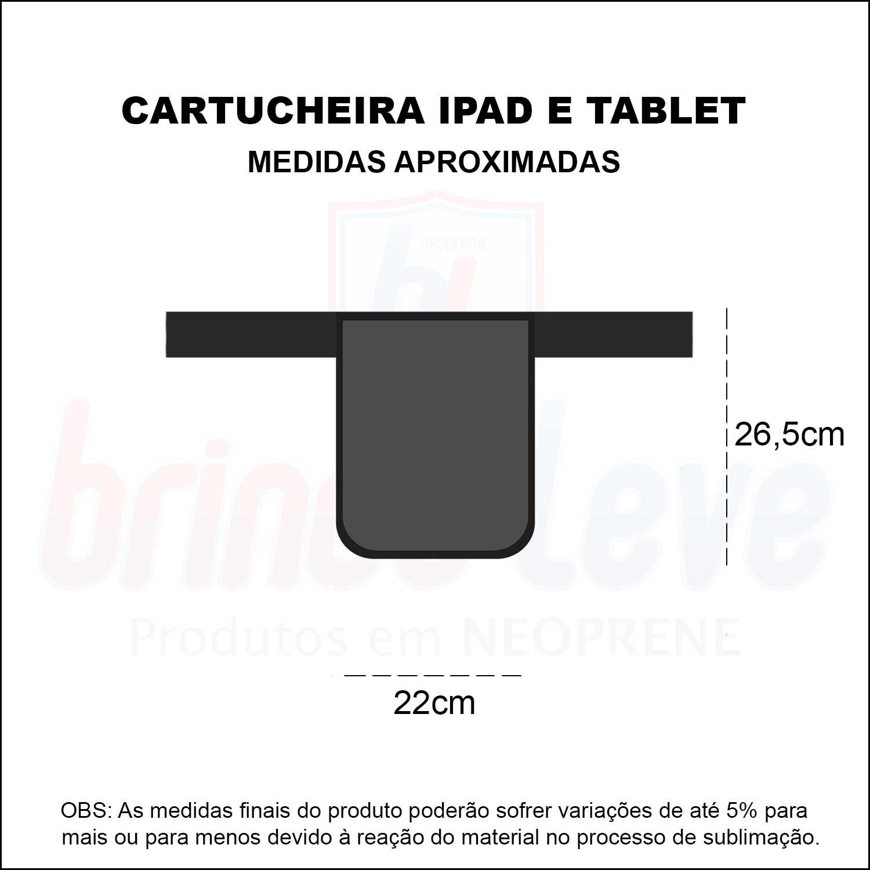 Medidas Cartucheira Para iPad e Tablet Personalizada
