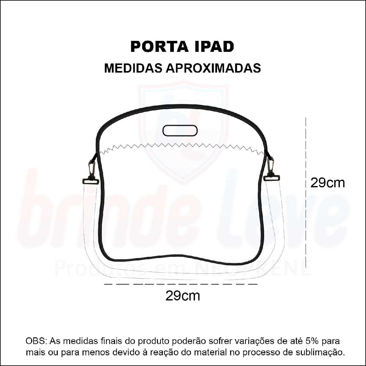 Medidas Porta iPad Personalizado