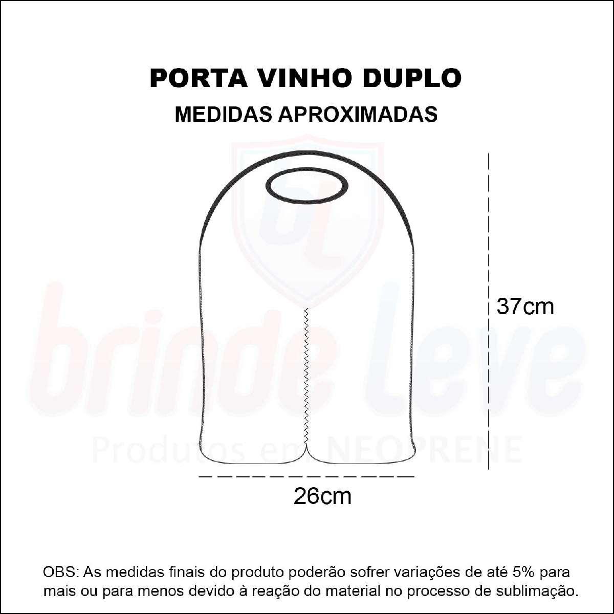 Medidas Porta Vinho Duplo Personalizado