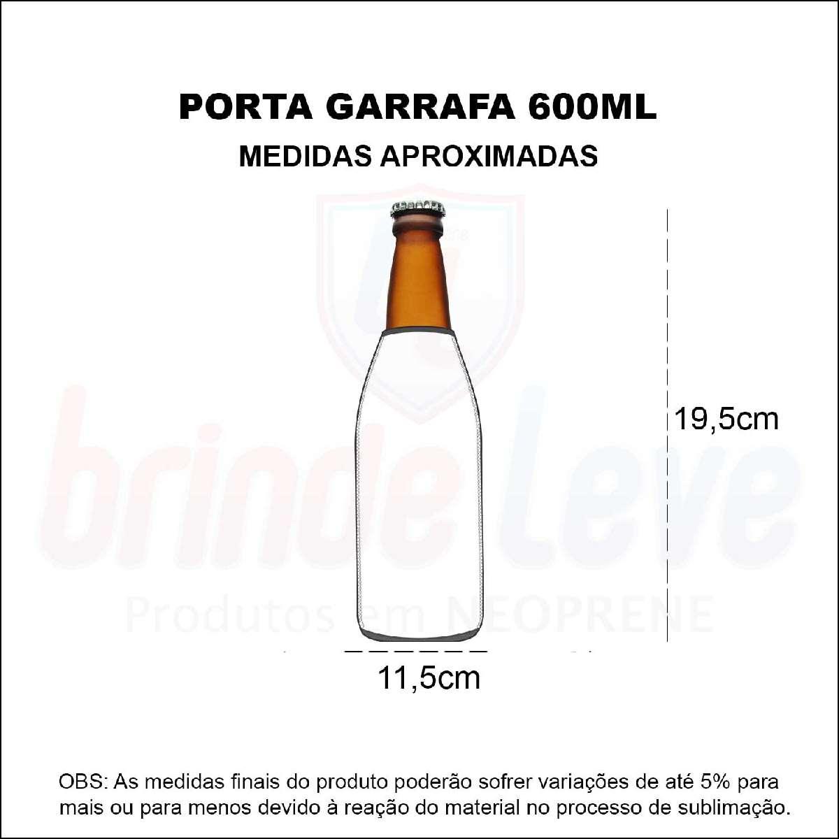 Medidas Porta Garrafa de 600 ml Personalizado