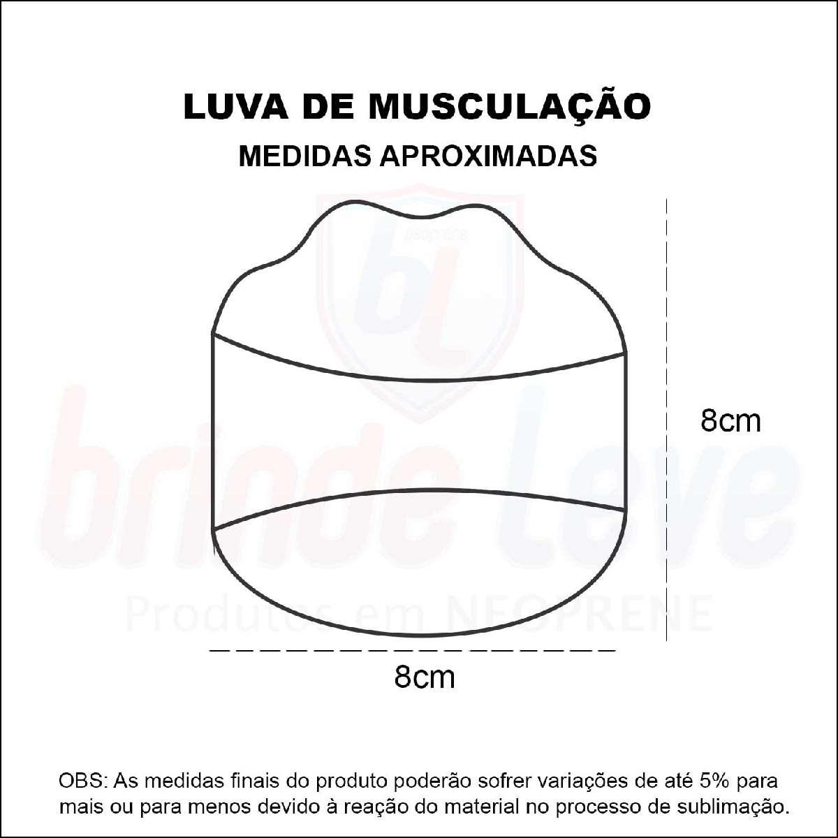Medidas Luva de Musculação Personalizada