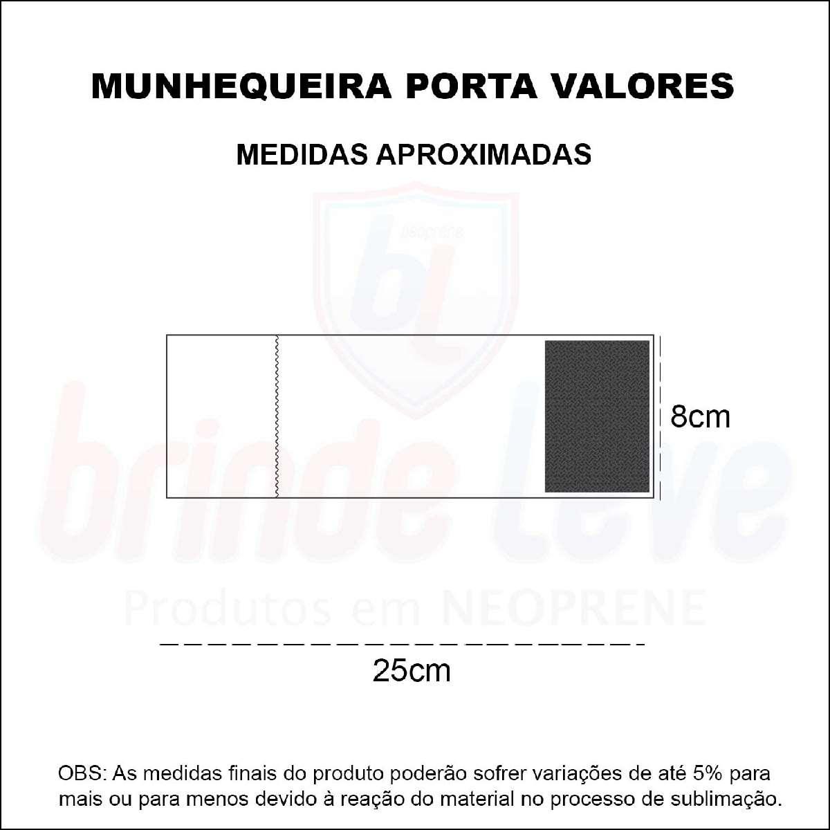 Medidas Munhequeiras Porta Valores Personalizada