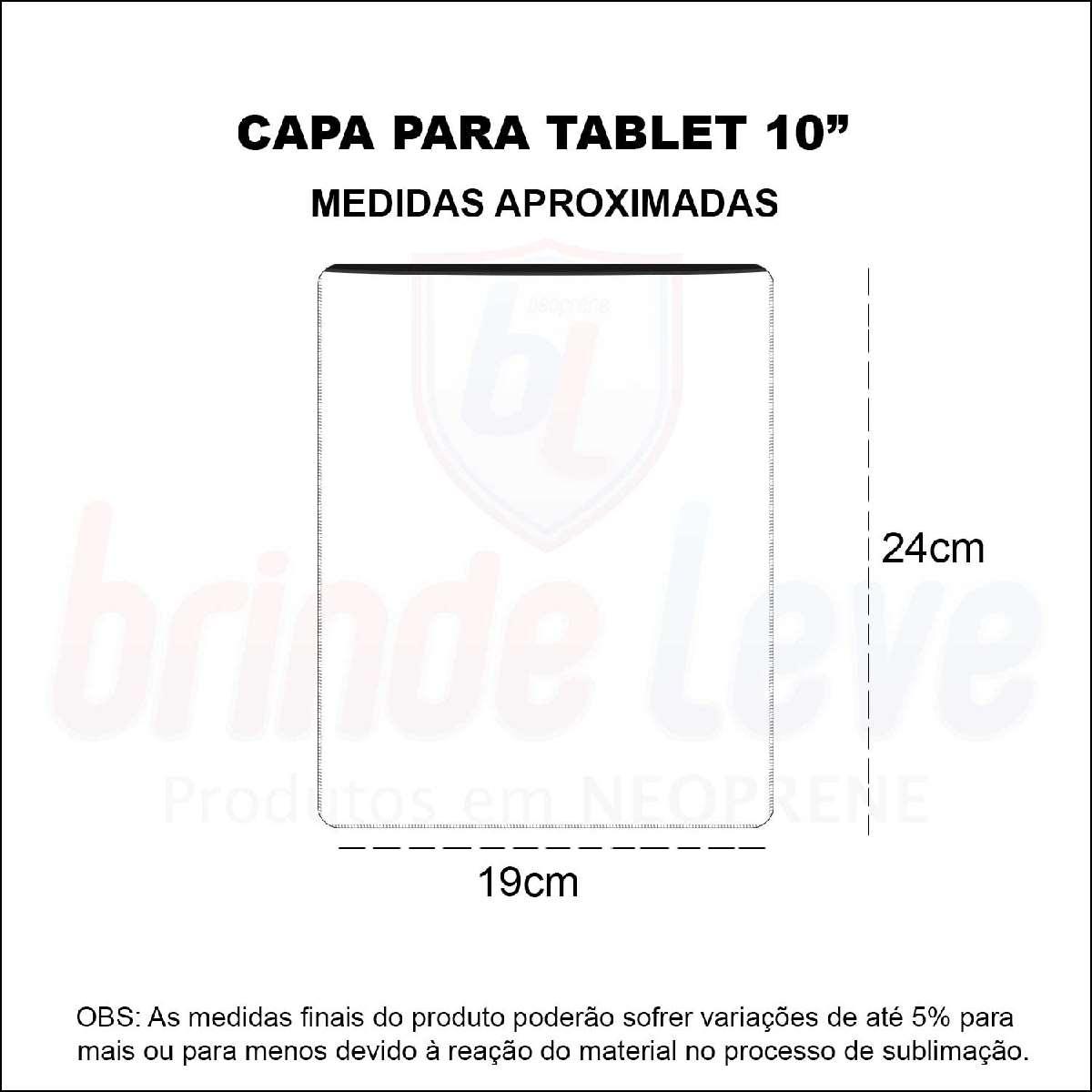 Medidas Capa para Tablet 10 polegadas Personalizada