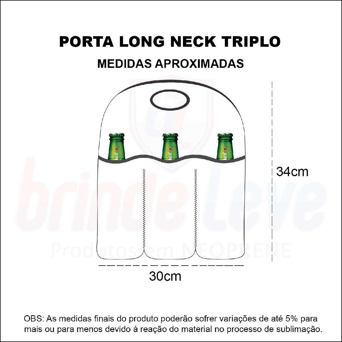 Medidas Porta Long Neck Triplo Personalizado