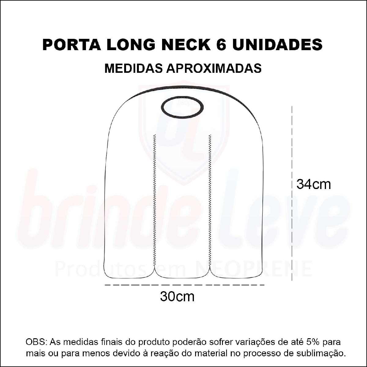 Medidas Porta Long Neck 6 unidades Personalizado