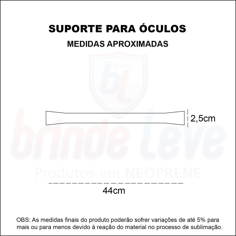 Medidas Suporte Para Óculos Sicurezza Personalizado