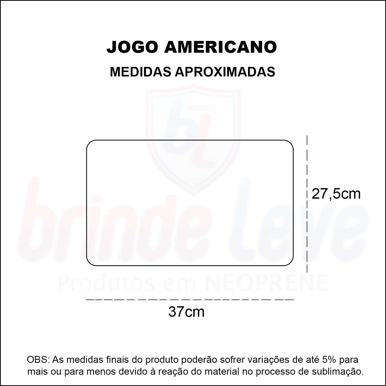 Medidas Jogo Americano Personalizado