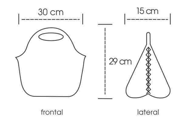 Medidas Lancheira em Isoflex Personalizada