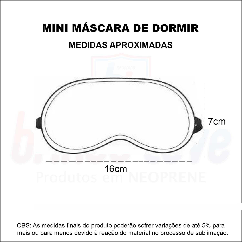 Medidas Mini Máscara de Dormir Personalizada