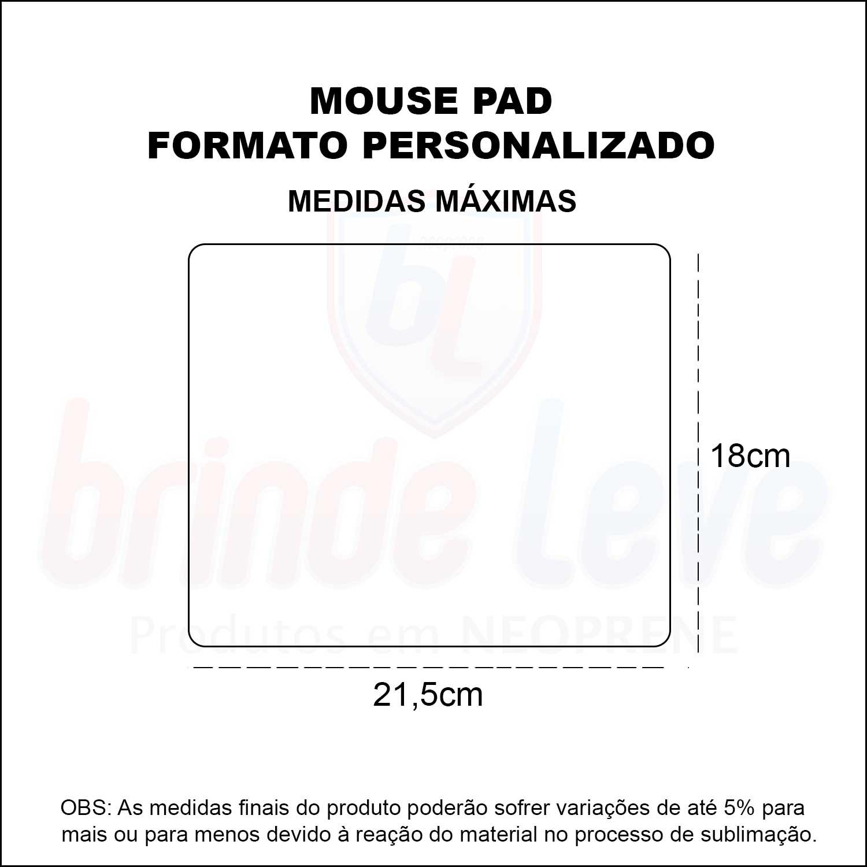 Medidas Mouse Pad em Formato Personalizado