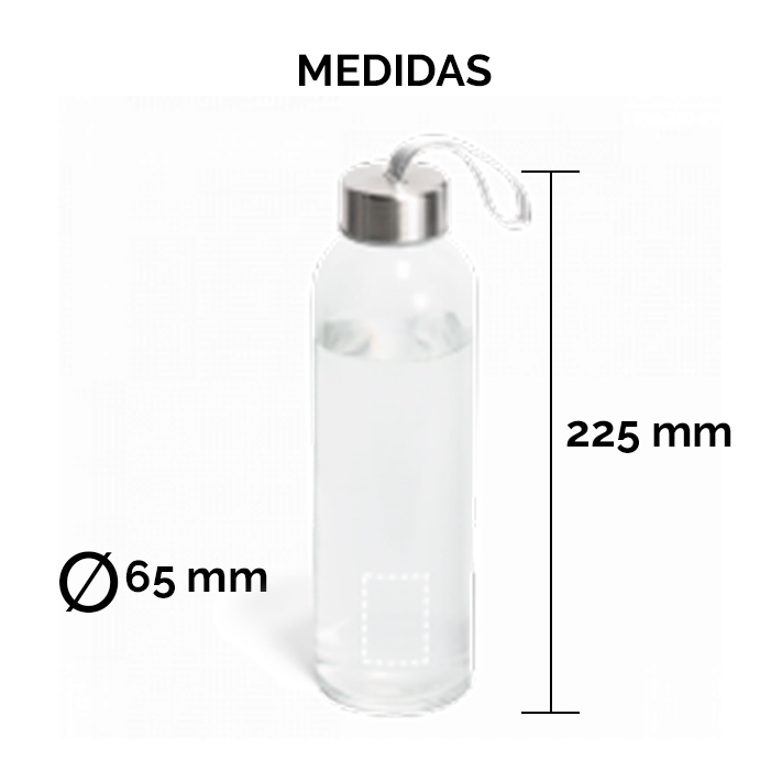 Medidas Squeeze Vidro e Aço Inox