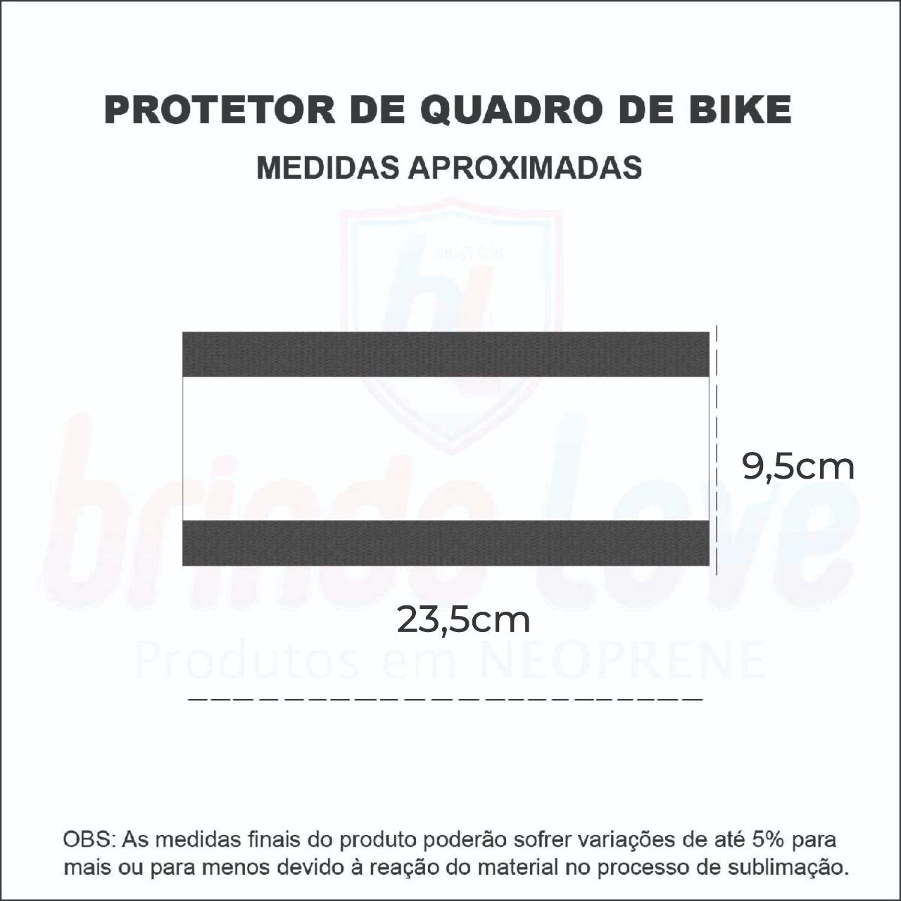 Medidas Protetor de Quadro Bike Personalizado