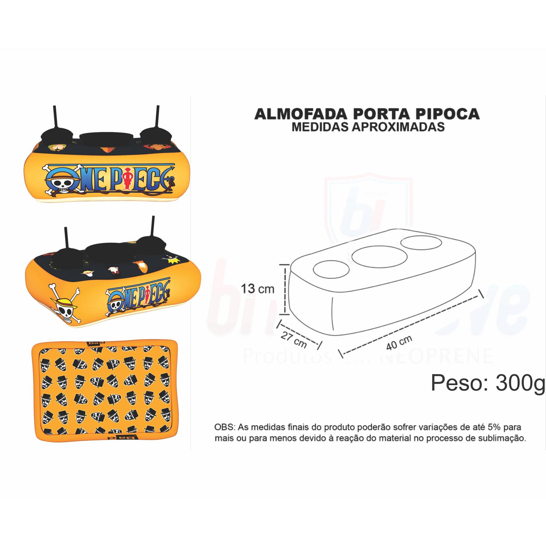 Medidas Almofada Porta Pipoca Personalizada