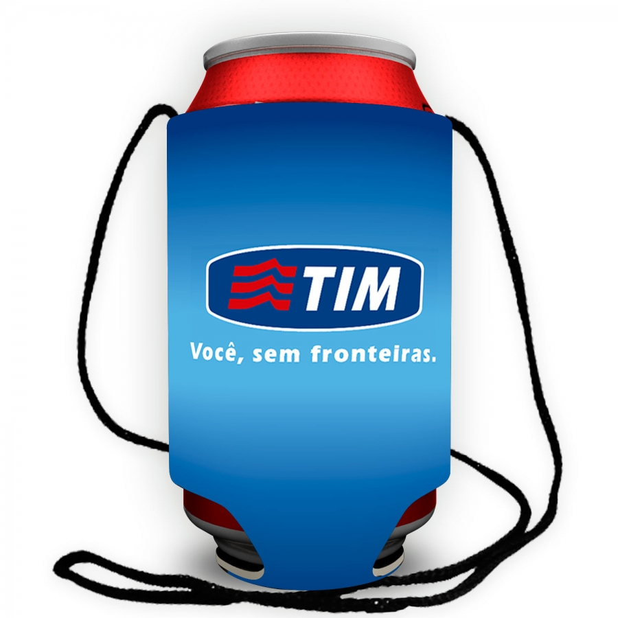 Porta latas com cordão Personalizado - Foto Zoom 3