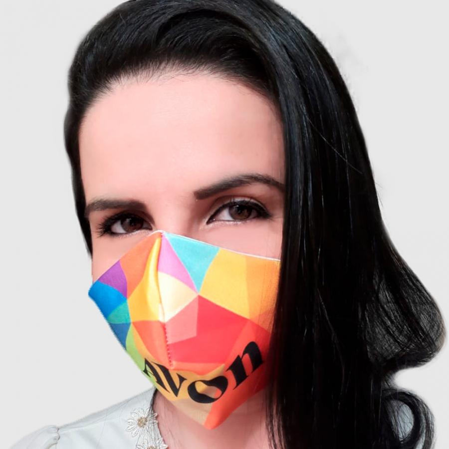 Máscara de Proteção Microfibra com Forro Algodão - Foto Zoom 0