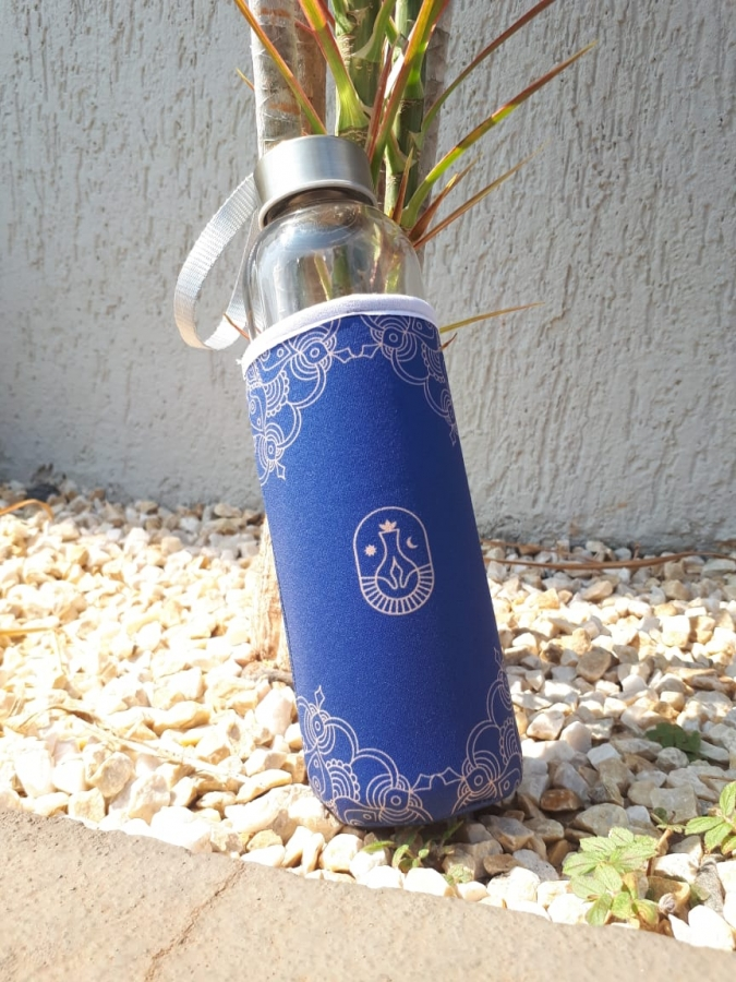 Squeeze Vidro e Aço Inox - Foto Zoom 1