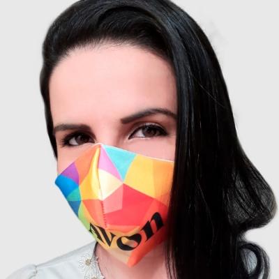 Máscara de Proteção Microfibra com Forro Algodão - Foto 0